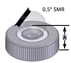 Laser tracker target holder, Brunson 0.5THCP